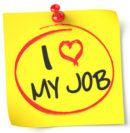 Zettel auf dem steht: I love my Job
